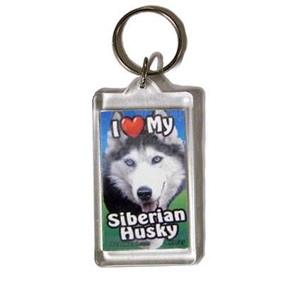 Plastic Keyring Siberian Husky