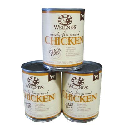 Wellness 95% Chicken Recipe Dog Food 13oz Case