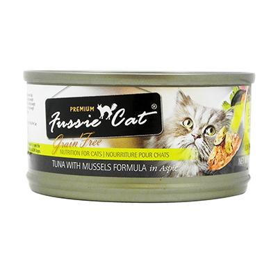 Fussie Cat Tuna Mussel Premium Canned Cat Food 2.8 oz each