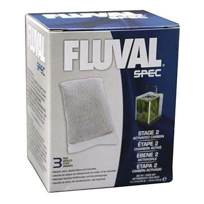 Fluval Spec Carbon Stage 2 Chemical Filter Insert 3pk Click for larger image