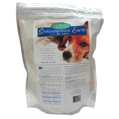 Lumino Organic Diatomaceous Earth for Pets 1.5 Pound