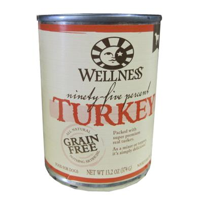 Wellness 95% Turkey Recipe Dog Food 13oz Each