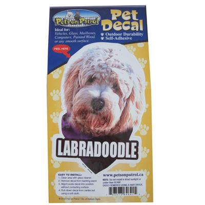 6-inch Vinyl Dog Decal Labradoodle Picture