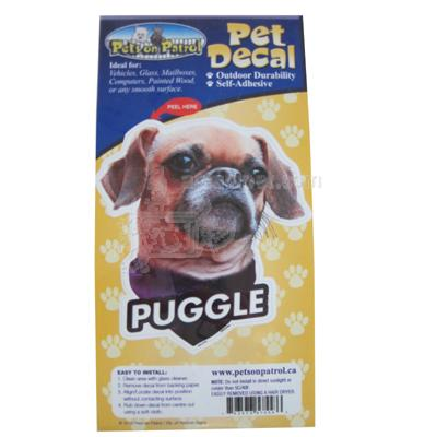 6-inch Vinyl Dog Decal Puggle Picture