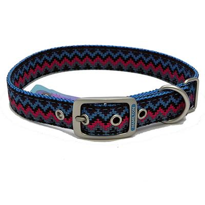 Hamilton Nylon Dog Collar Ocean Weave 1 x 20-inch Click for larger image