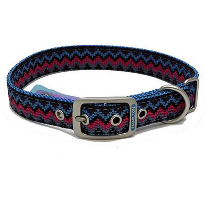 Hamilton Nylon Dog Collar Ocean Weave 1 x 22-inch Click for larger image