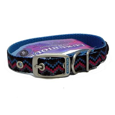 Hamilton Nylon Dog Collar Ocean Weave 5/8 x 16-inch Click for larger image