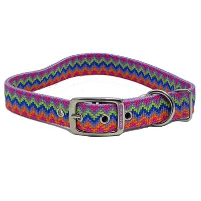Hamilton Nylon Dog Collar Lavender Weave 1 x 20-inch Click for larger image