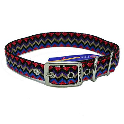 Hamilton Nylon Dog Collar Black Weave 1 x 24-inch