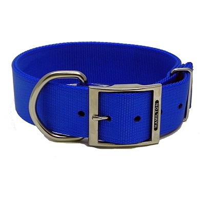 Hamilton Nylon Blue Dog Collar 1-3/4  x 28-inch Click for larger image