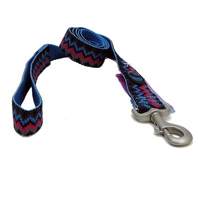 Hamilton Nylon Ocean Weave Dog Leash 1-inch x 6-ft Click for larger image
