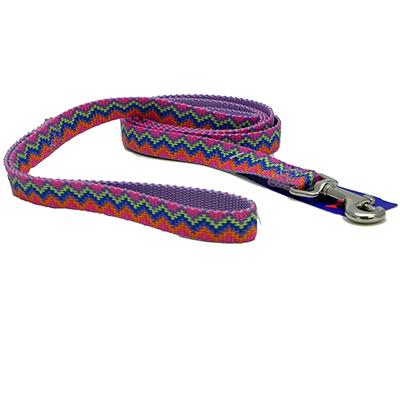 Hamilton Nylon Lavender Weave Dog Leash 5/8-inch x 6-ft Click for larger image