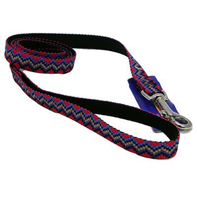 Hamilton Nylon Black Weave Dog Leash 5/8-inch x 4-ft Click for larger image