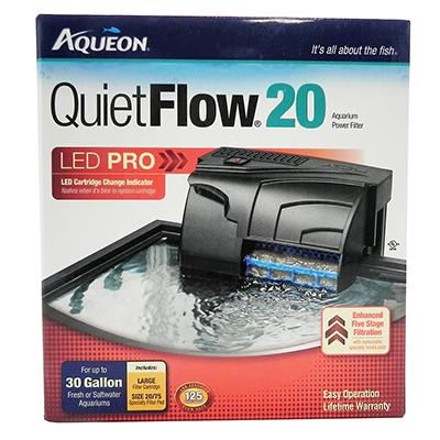 Aqueon Quiet Flow LED PRO 20 Aquarium Power Filter Click for larger image
