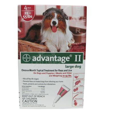 Bayer Advantage II Dog 21-55 lb 4 pack