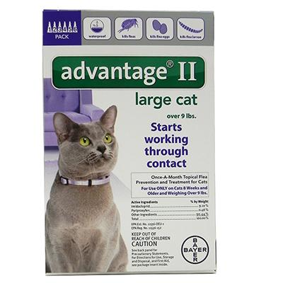 Bayer Advantage II Cat 10-18 pound 6-pack Flea Control