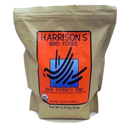Harrison's Hi Potency Fine Organic Bird Food 5-Lb.