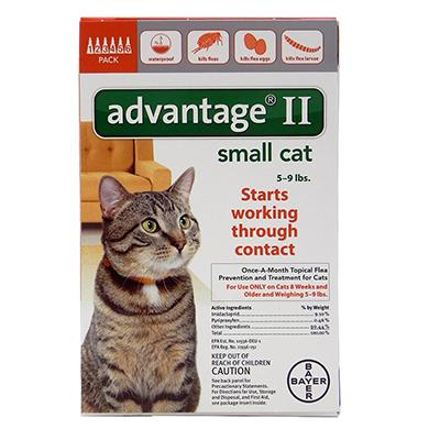 Bayer Advantage II Cat 5-9 pound 6-pack Flea Control Click for larger image