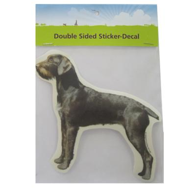 Double Sided Dog Decal German Wirehair Click for larger image