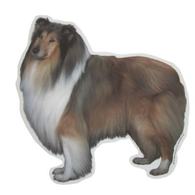 Double Sided Dog Decal Collie Standing