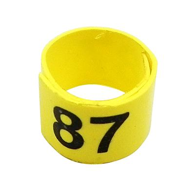 Poultry Numbered Leg Bandette Yellow size 7 (single band) Click for larger image