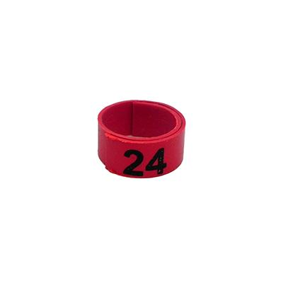 Poultry Numbered Leg Bandette Red Size 11 (single Band) Click for larger image