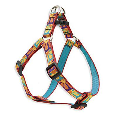 Nylon Dog Harness Step In Crazy Daisy 15-21 inches Click for larger image
