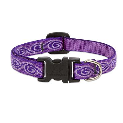 Lupine Nylon Dog Collar Adjustable Jelly Roll 9-14 inch Click for larger image