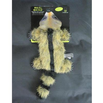 Hyper Pet Real Skinz Racoon Stuffing Free Dog Toy