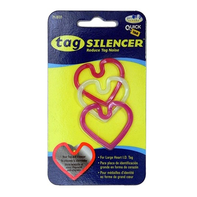 Tag Silencer Large Heart Dog Tag Accessory 3 Pack