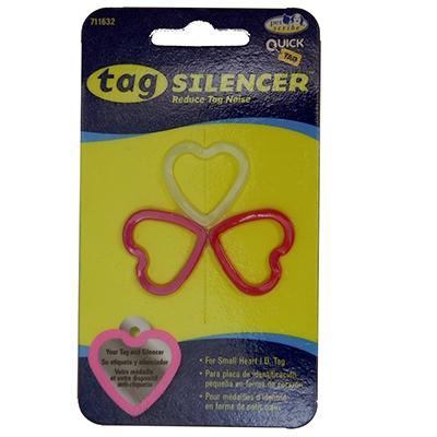 Tag Silencer Small Heart Dog Tag Accessory 3 Pack