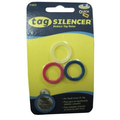 Tag Silencer Small Circle Dog Tag Accessory 3 Pack