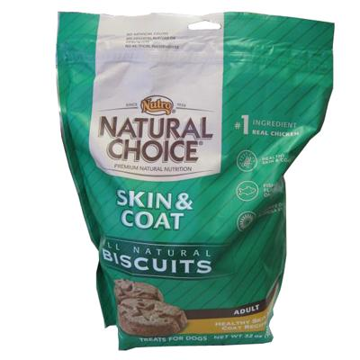 Nutro Natural Choice Skin & Coat Dog Biscuits 32-oz.