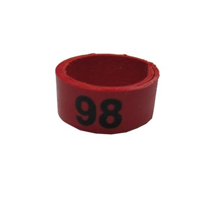 Poultry Numbered Leg Bandette Red Size 12 (single Band)
