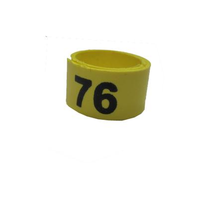 Poultry Numbered Leg Bandette Yellow Size 9 (single Band) Click for larger image