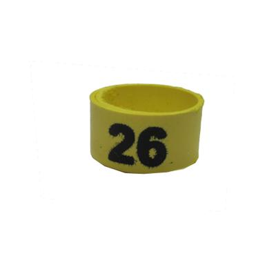 Poultry Numbered Leg Bandette Yellow Size 11 (single Band) Click for larger image