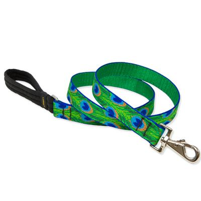 Lupine Nylon Dog Leash 4-foot x 1-inch Tail Feathers