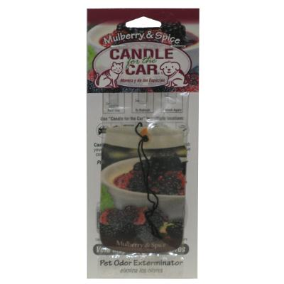 Candle For the Car Mulberry Spice Pet Odor Eliminator