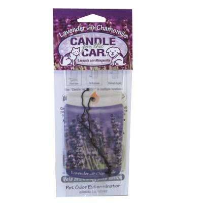 Candle For the Car Lavender Pet Odor Eliminator