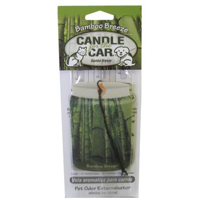 Candle For the Car Fresh Bamboo Breeze Pet Odor Eliminator Click for larger image