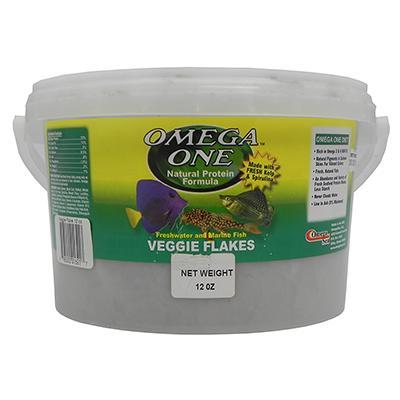 Omega One Veggie Flakes Fish Food 12 ounce