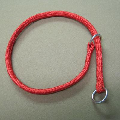 Nylon Dog Choke Red Collar 10in