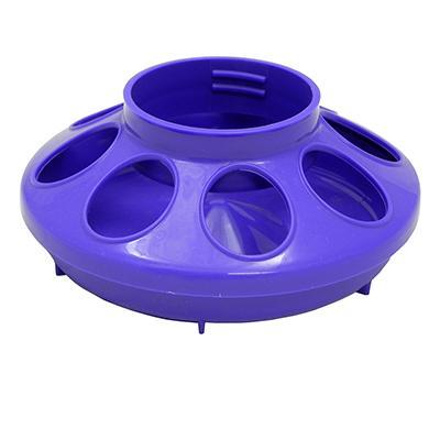 Plastic Mason Jar Baby Chick Feeder Base Purple