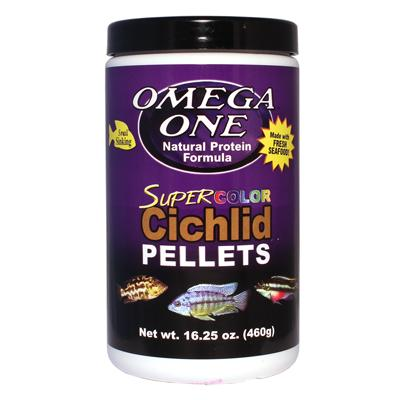Omega One Super Color Cichlid Sm Sinking Fish Pellets 1-Lb. Click for larger image