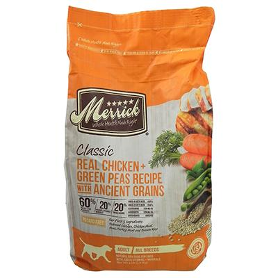 Merrick Classic Chicken Rice Dry Dog Food 4-Lb.