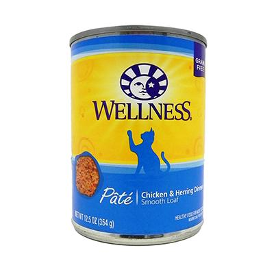 Wellness Chicken And Herring Canned Cat Food 13 oz Case