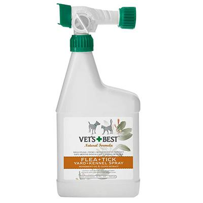 Vets Best Natural Flea and Tick Yard and Kennel Spray 32-oz.