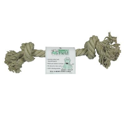 Tug-a-Hemp Extra large Natural Hemp Rope Bone Dog Toy Click for larger image