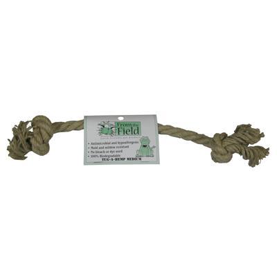 Tug-a-Hemp Medium Natural Hemp Rope Bone Dog Toy Click for larger image