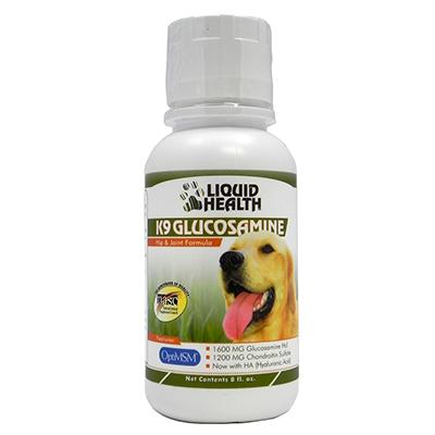 Liquid Health K9 Glucosamine Hip and Joint 8oz Click for larger image